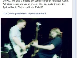 Facebook-News: 1. Hecht-Konzert